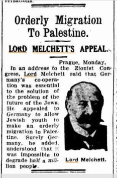 Appeal for Migration to Palestine 29 August 1933