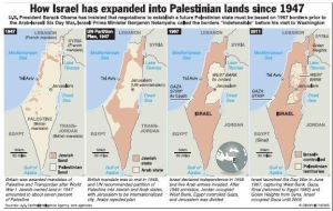 Disappearing Palestine Map