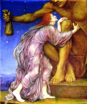 1909 painting The Worship of Mammon by Evelyn De Morgan.