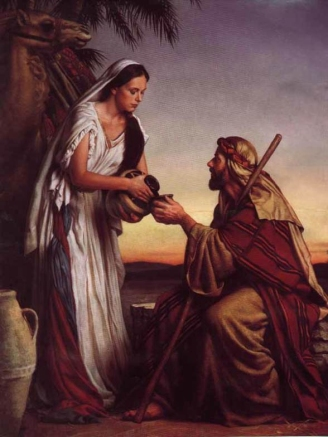 Rebekah and Eliezer at the well