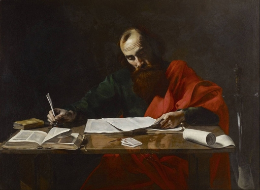 Apostle Paul writing the Epistles