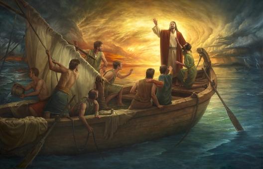 Jesus - disciples boat