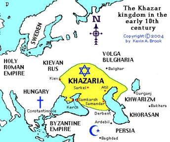 Khazaria Mapa