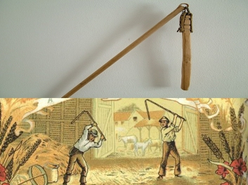 Flail and threshing