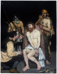 Jesus mocked by the soldiers